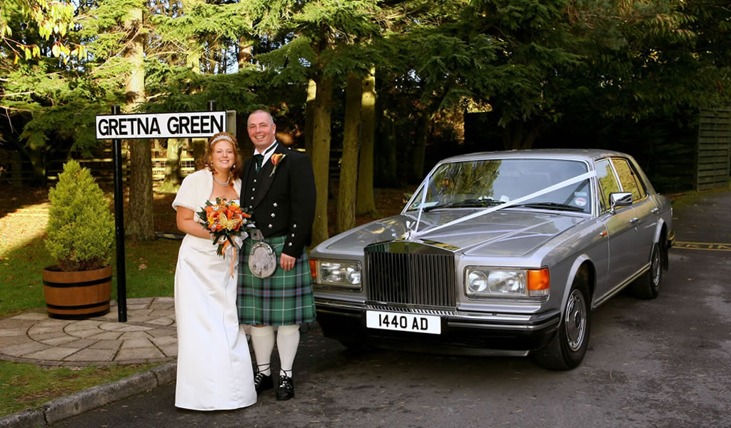 Rolls Royce Silver Spirit wedding car for special occasions